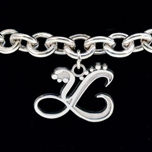 Picture of Sterling Silver Bracelet with Silver Charm